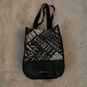 Lululemon Black Reusable Bag